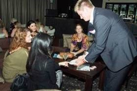 Strolling Magic by Magician Tony Laffan Magic Unlimited